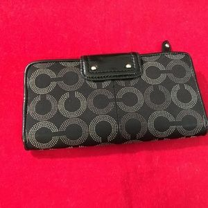 Coach Bags - SOLD! COACH MADISON Dotted OP ART Clutch Wallet